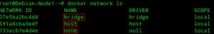 Network de base crée lors de l'installation de Docker